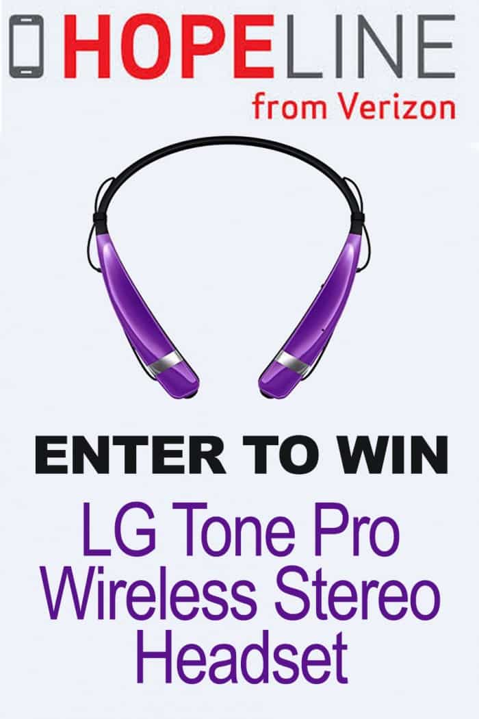 HopeLine from Verizon has been donating wireless phones and money to help support domestic violence victims since 2001. Now you can help too, by purchasing exclusive purple accessories and donating old phones. Plus, you can enter to win an LG Tone Pro Wireless Stereo Headset!
