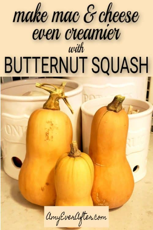 Squash mac and cheese isn't just a healthier version of a classic recipe. Butternut squash adds a sweetness to the sauce, and makes it even creamier! #Thanksgiving #recipe