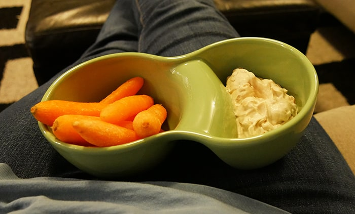 chip and dip bowl with carrots from uncommongoods