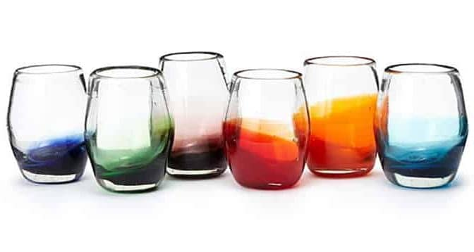 colorful ombre drinking glasses