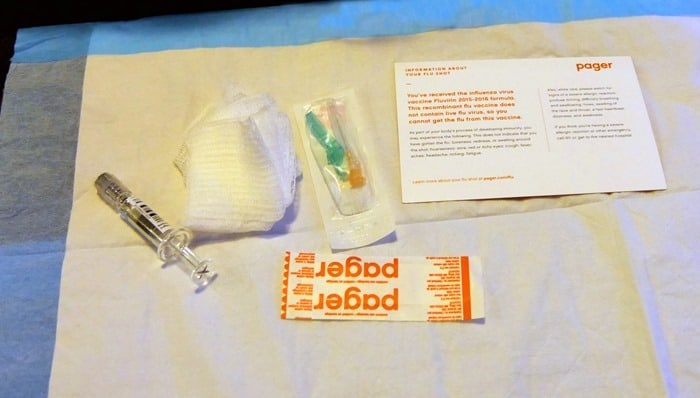 Pager App flu shot supplies