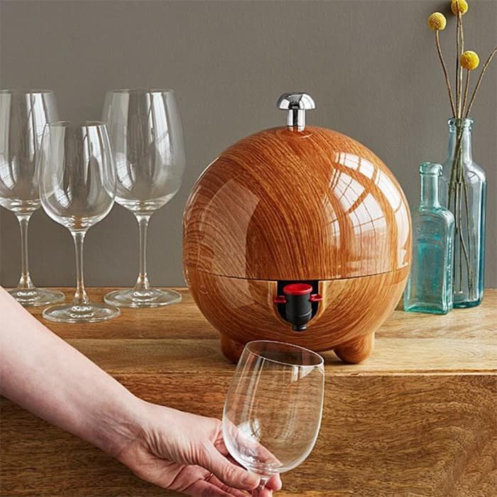 wine dispenser in the shape of a sphere from uncommongoods