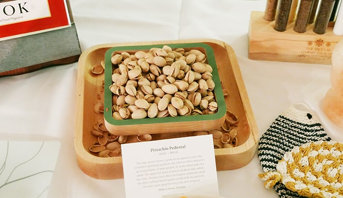 wooden pistachio tray from uncommongoods