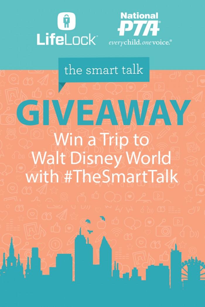 Pinterest Graphic - The Smart Talk with LifeLock logo