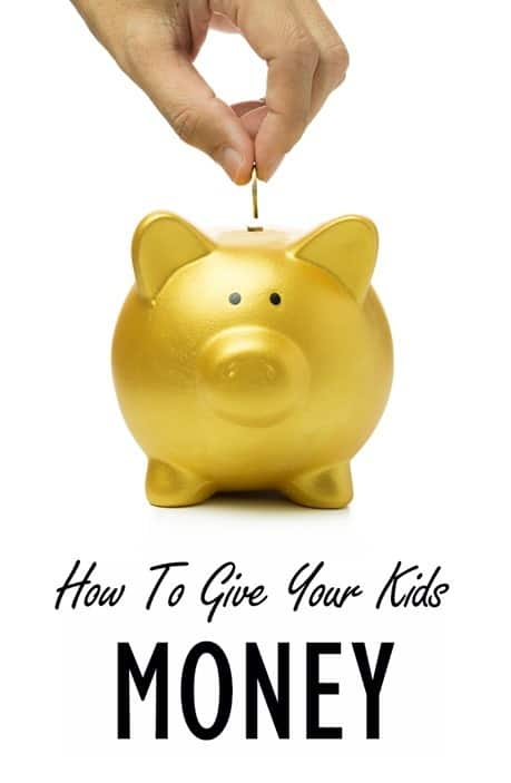 How To Give Your Kids Money - pinterest