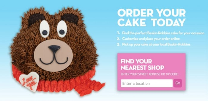 Order Your Cake Today - Baskin-Robbins