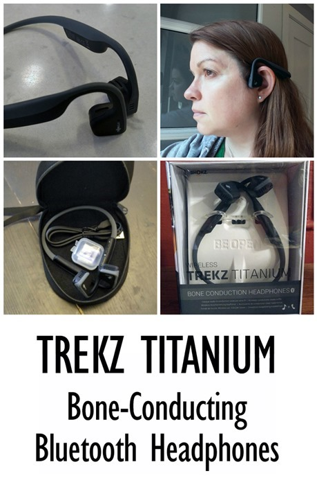 Trekz Titanium headphones by AfterShokz - bone-conducting technology that let's you hear what's happening around you