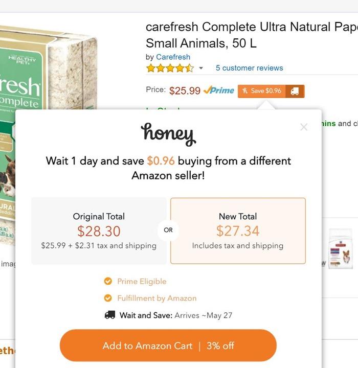 Honey saved me money on Amazon too