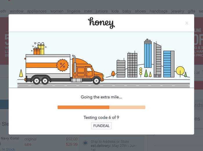 Honey tested nine codes