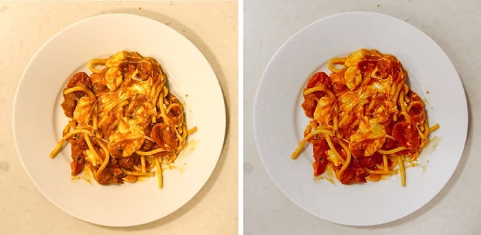 pasta with the foodie app