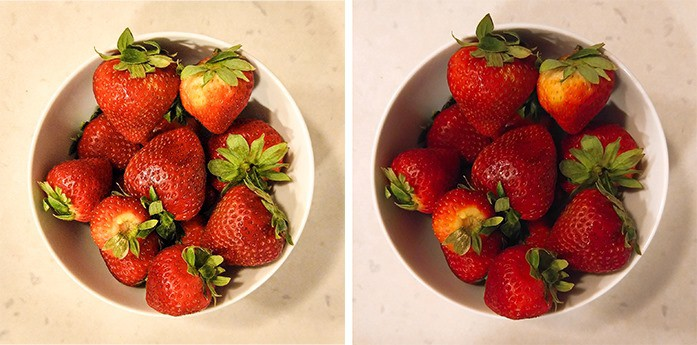 strawberries with the foodie app