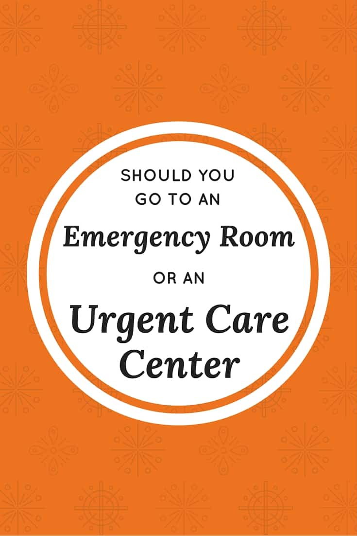 Knowing when to go to an urgent care center versus an Emergency Room is really valuable information. If you go to an ER when you could have gone to an urgent care clinic, you might spend more time waiting than you need to.