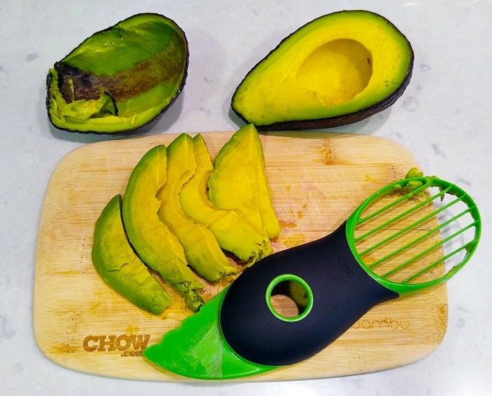 Mexican Salad - avocado slicer with slices
