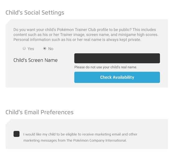 Pokemon Go child social settings