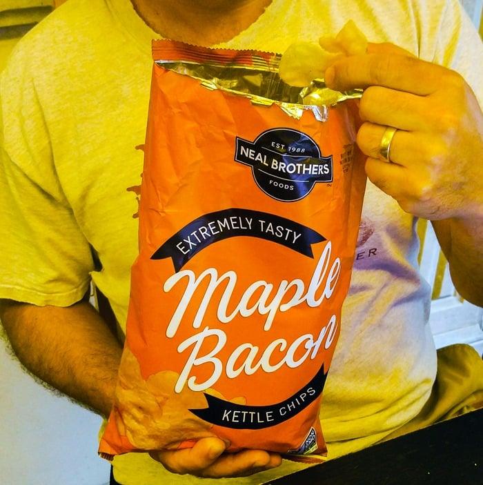 KidzVuzBTS Neal Brothers Maple Bacon Chips