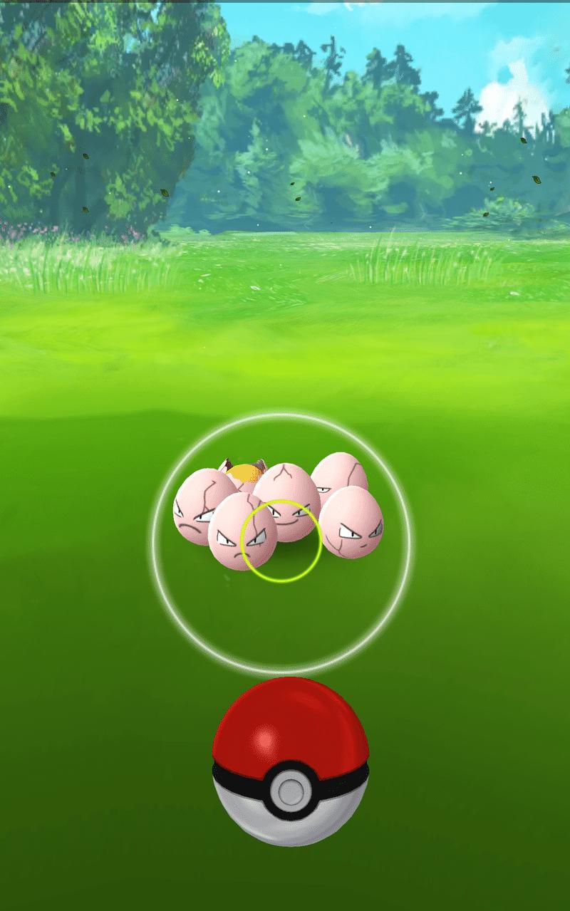 Pokemon Go - Exeggcute with small circle