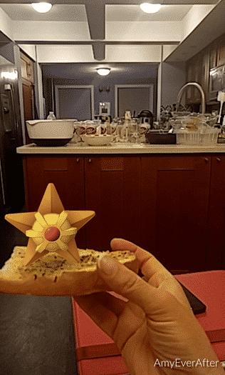 Pokemon Go - Staryu on garlic bread