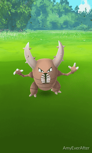 Pokemon Go - a Pinsir with AR turned off