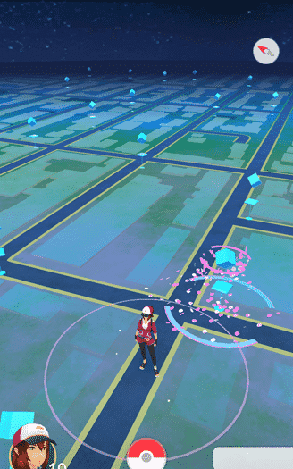Pokemon Go - a pokestop with a lure