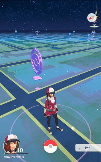 Pokemon Go - close map view