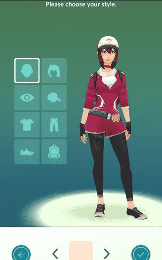 Pokemon Go - customizing avatar