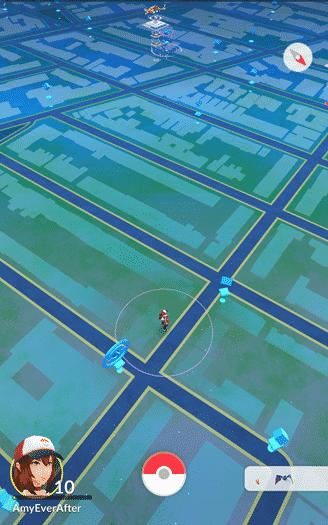 Pokemon Go - far map view