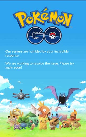 Pokemon Go - humbled servers