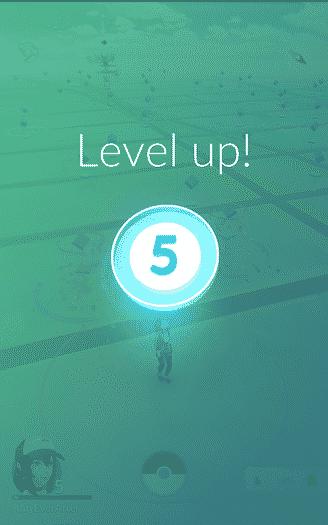 Pokemon Go - level up, level 5