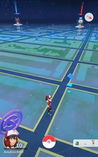 Pokemon Go - pokestop with 2 gyms