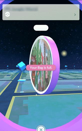 Pokemon Go - your bag is full