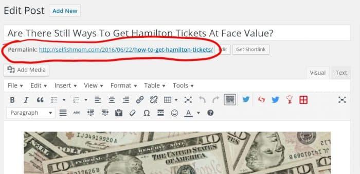 Post URL screenshot