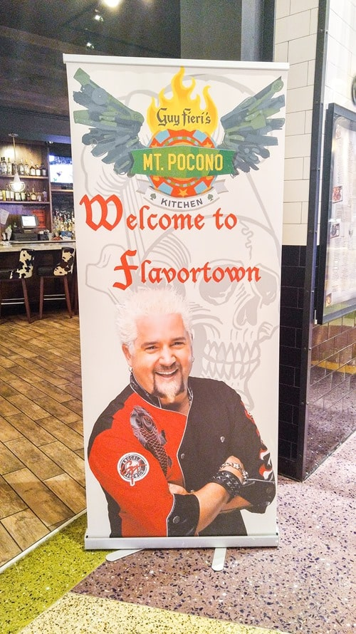 Guy Fieri's face at Mount Airy Casino and Resort