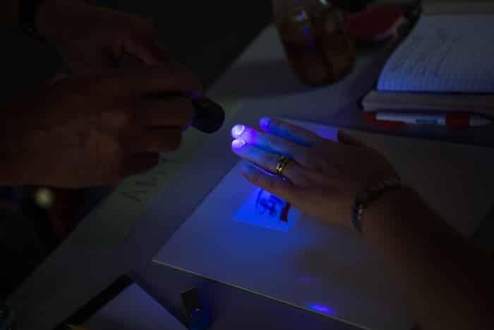 Lysol Germ School blacklight check