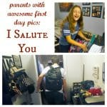 Parents With Awesome First-Day Pics, I Salute You