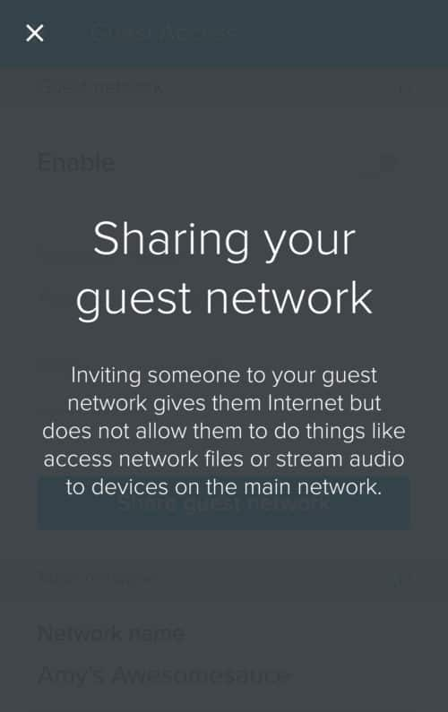 eero Home WiFi System screenshot - in-app info