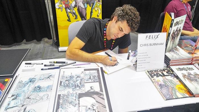 New York Comic Con - Chris Burnham, drawing in Artist Alley