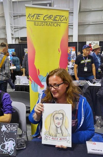 New York Comic Con - Kate Carleton in Artist Alley