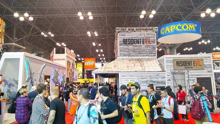 New York Comic Con - Resident Evil booth on the show floor