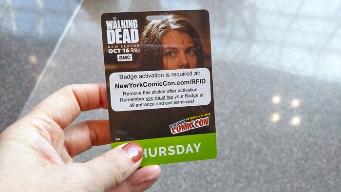 New York Comic Con - Walking Dead badge