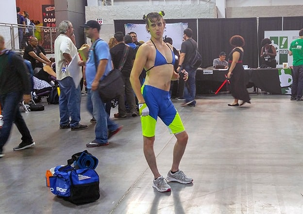 New York Comic Con - a costumed character with confidence