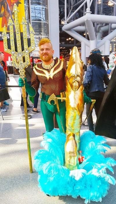 New York Comic Con - an Aquaman and his seahorse