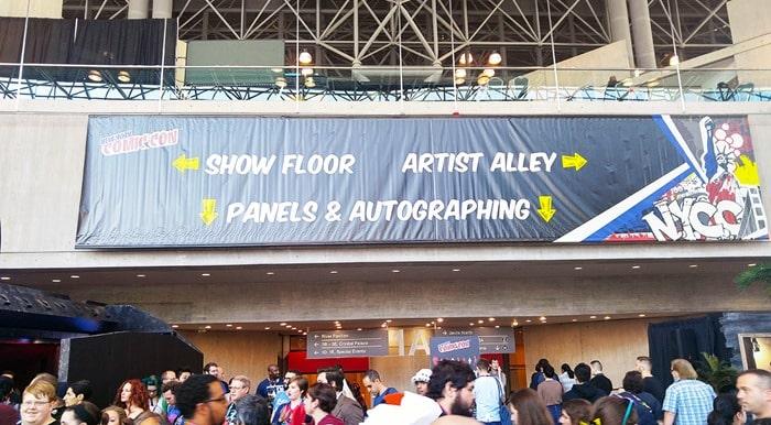 New York Comic Con - big sign