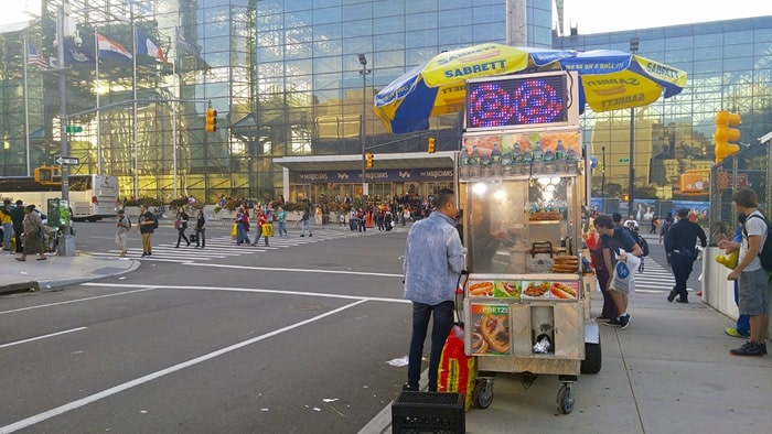 New York Comic Con - food carts across the street from The Javits Center