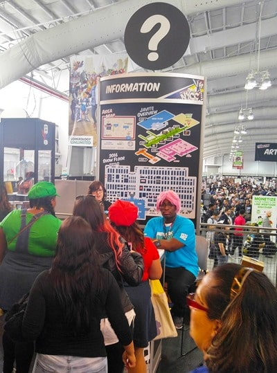 New York Comic Con - information booth
