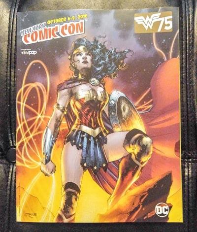 New York Comic Con - show program with Wonder Woman