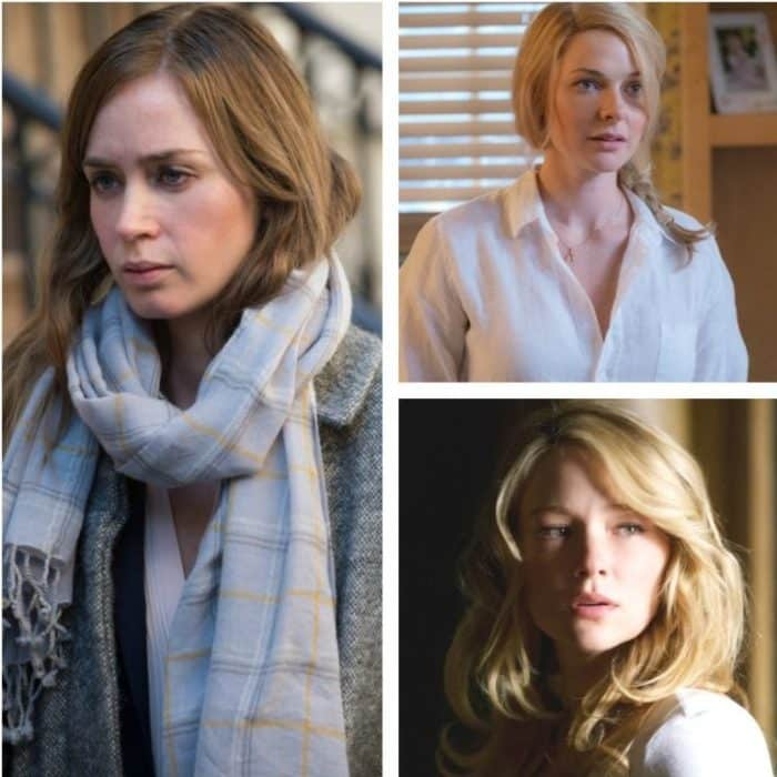 Emily Blunt, Rebecca Ferguson, and Haley Bennett in The Girl On The Train