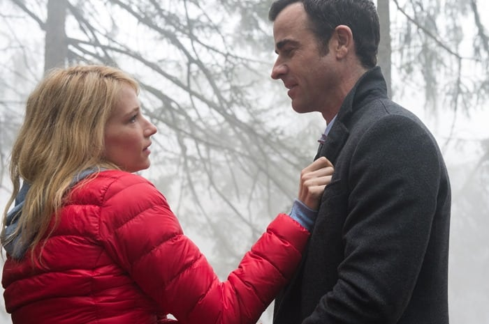 "Haley Bennett and Justin Theroux in ""The Girl on the Train"""