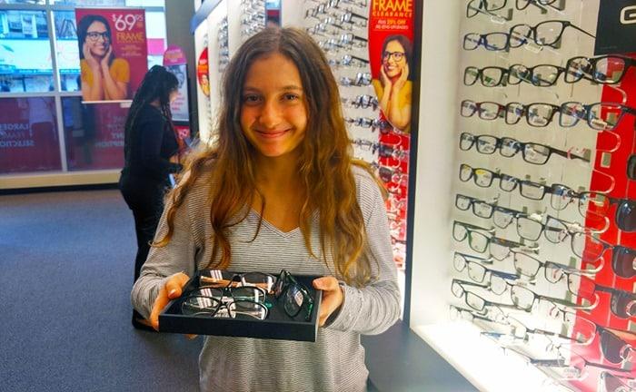 Visionworks - my daughter choosing her glasses