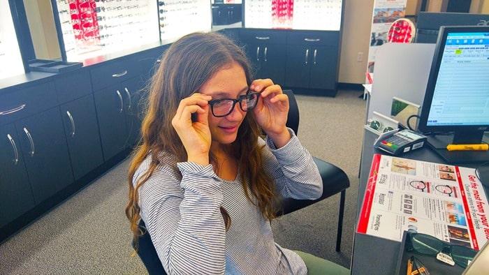 Visionworks - my daughter choosing her glasses 2