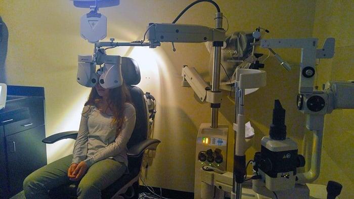 Visionworks - my daughter getting her eyes examined 2